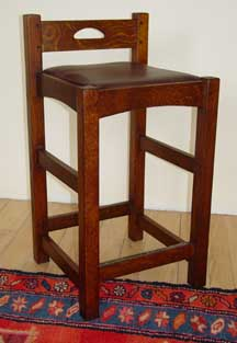 Bungalow Bar Chair Arts and CraftsMission Style in Quarter Sawn Oak W D H