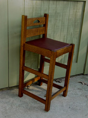 Arts and Crafts Bar Stools Arts and CraftsMission Style in Quarter Sawn Oak