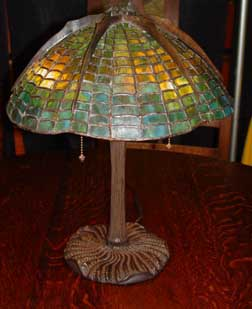 Glass and pottery black river mission arts and crafts tiffany spider stained glass table lamp l65 tiffany spider table lamp aloadofball Choice Image