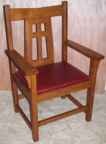 Limbert Lines Dining Arm Chair Arts And Crafts Mission Style In Quarter Sawn Oak 22 Wide 18 Deep 39 High 1295 Other Leather Colors Ar Available