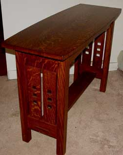 Welcome to black river mission for Arts and crafts sofa table