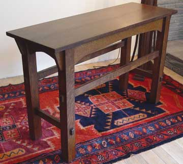 Tables and tabourets for Arts and crafts sofa table