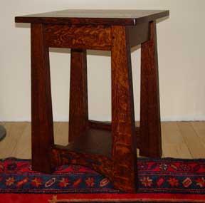 Elegant Arts And Crafts Mission Oak Limbert Table Item #267. Limbert Lines End Table  18W 16D 24H $925.00