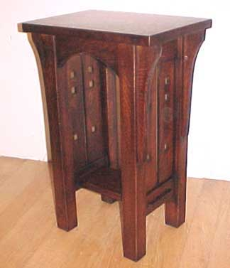 Arts And Crafts Mission Oak Mackintosh Tabouret/Table Item #233. Mackintosh Side  Table 16W 11D 24H $765.00