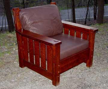 Arts And Crafts Mission Oak Black River Knockdown Side Chair
